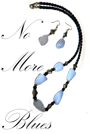 No more blues- Necklace and Earrings