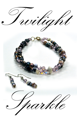 Twilight Sparkle-Bracelet & Earring Set